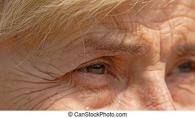 Life memories - Close-up image of a senior woman eye.