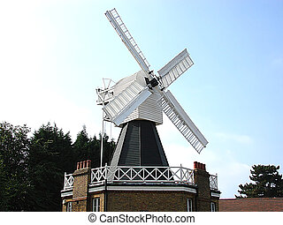Windmill - Landscape shot of a windmill