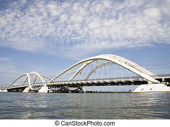 Modern bridge 1 - The Enneus Heermabridge in Amsterdam,...