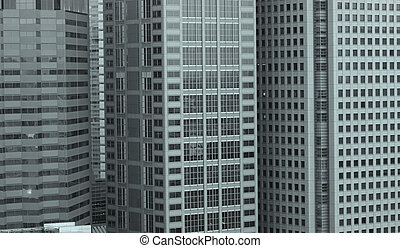 Three Buildings - Row of multi story buildings in Tokyo city