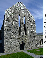 Cathedral ruins - ruins of historic Cathedral in county...