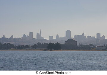 San Francisco Skyline - A view of the San Francisco city...