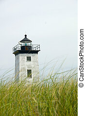 Long Point Lighthouse in Provincetown, Cape Cod, MA, USA