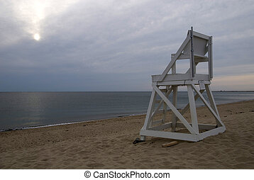 Lifeguard Chair - Lifeguard chair on a deserted beach