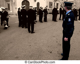 Policeman - Malta Police Force - Police officer during...