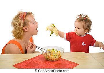 alimentazione, mamma