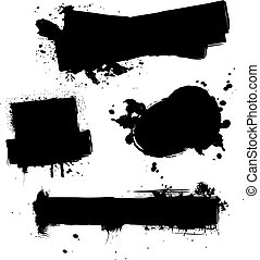 four ink splat - abstract ink splat designs with room for...