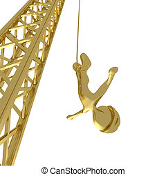 Bungee Jumping - Computer generated image - Bungee Jumping.