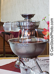 Punch Bowl - Silver fountain style punch bowl at a formal...