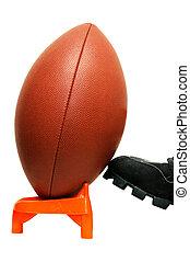 Kickoff - American football kickoff with clipping path.