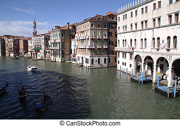 Bridgetop view of the grand canal venice - bridgetop view of...