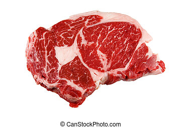 Raw Steak - Raw beef steak isolated with a clipping path