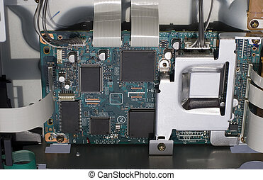 Circuit Board and flat cables - Microchips and Electronic...