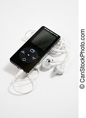 MP3 player - MP3 Player background with headphone