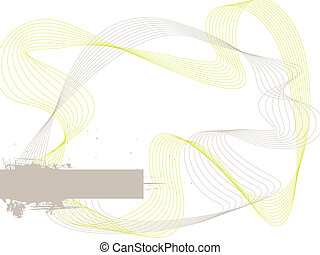 subtle wave - Landscape abstract wave design in gray and...