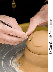 Making Pottery close up shot