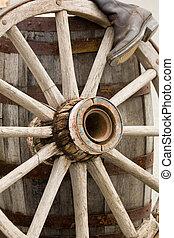 rueda, vendimia, barril