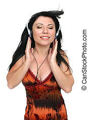 Audiophile Music Lover - A woman listening to quality high...