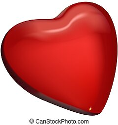 Red Glass Heart 1