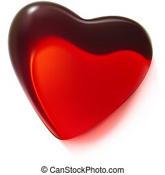 Red Glass Heart 3