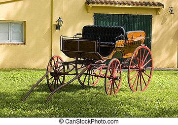 An elegant carriage.  Carriage.  - An elegant carriage