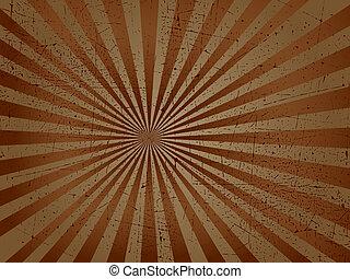 Grunge texture - Starburst background with a grunge texture