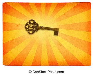 motiv, bakgrund,  retro, nyckel