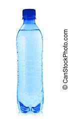 water bottle - close-up of water bottle isolated on white...