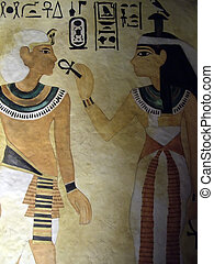 Egypt Tomb art - Hieroglyphics found in Tutankhamen\\\'s...
