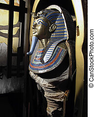 Tutankhamens Mummy - Burial sacrophagus found in...
