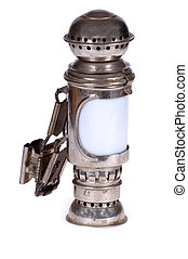 Old lamp. Taken on clean white background.
