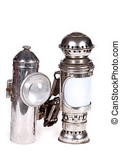 Old lamps. Taken on clean white background.
