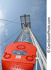 Drilling Rig and Win - Drilling rig shot from inside the...
