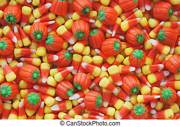 Candy Corn and pumkins