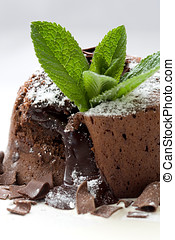 Chocolate dessert - Delicious looking chocolate dessert with...