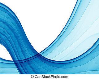poseidon waves - blue abstract waves on white background, hq...