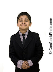 Formally Dressed - A handsome indian kid formally dressed in...