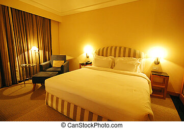 Luxury Hotel Room - A warm and cosy bedroom during vacation