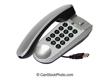 Modern IP phone - Internet phone.