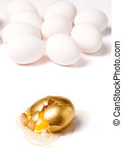broken golden egg, concept of financial risk