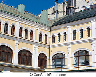 age-old building, decoration, history, Moscow, exterior,...