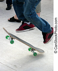 Tricky Feet - Skate boarder demonstrating his prowess for...