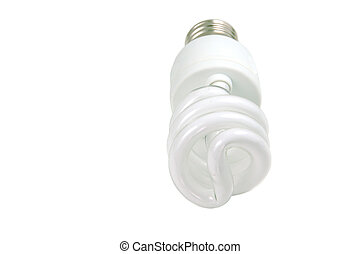 energy saving light bulb - isolated energy saving light bulb