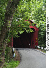 Stonelick Perintown Covered Bridge Built in 1878 with a span...