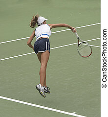 Serving - Tennis player serving