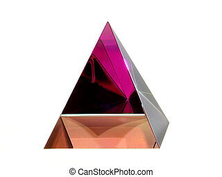 Pyramid - Ornamental Glass Pyramid with Colour Reflections...