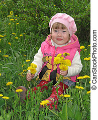 Girl with the dandelions