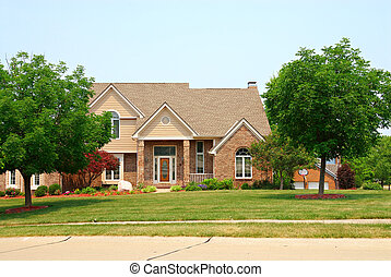 Residential two story brick home in an upscale neighborhood...