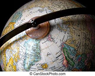 Globe - A close-up photo of a globe.