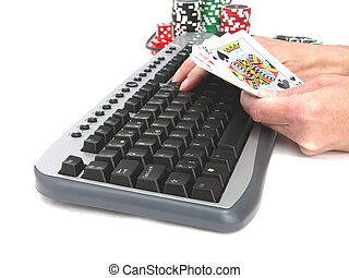 Online games - A very nice poker hand playing online